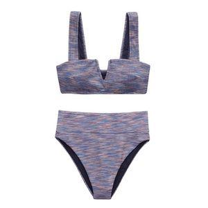 Aerie Purple Two Piece Bikini Bathing Suit NWT